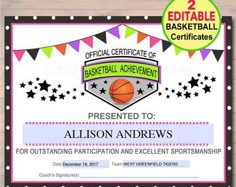 sports certificates etsy