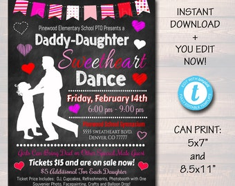 School Dance Flyer Etsy
