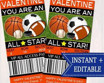Classroom Valentines Etsy