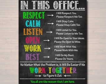 Ideas for office decoration Desk Principal Counselor Office Decor Therapist Printable Poster High School Expectations Rules Respect Teen Psychologist Assistant Principal Etsy Office Decor Etsy