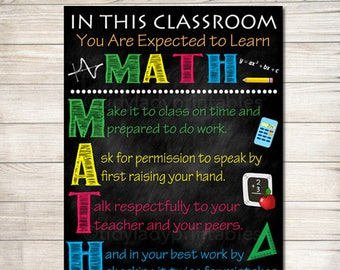 Math poster | Etsy