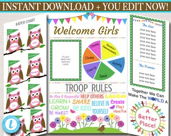 image relating to Girl Scout Cookie Thank You Notes Printable referred to as Multi Place Troop Kaper Chart Conference Board Prompt Etsy