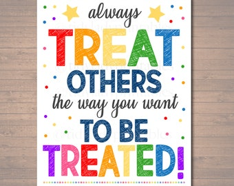 graphic relating to Golden Rule Printable titled Golden rule Etsy