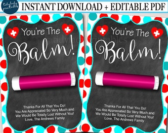 picture relating to You're the Balm Teacher Free Printable identified as Youre the balm Etsy