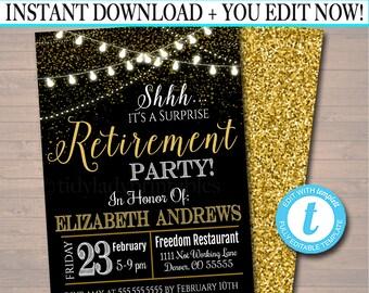 retirement invites etsy