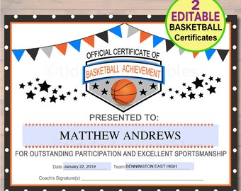 photo about Printable Basketball Certificates called printable match certificates -