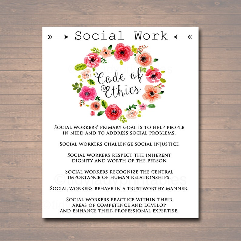 photograph relating to Nasw Code of Ethics Printable known as Social Effort and hard work Code Of Ethics, Social Employee Present, Social Personnel Workplace Decor Printable Wall Artwork Prompt Down load, Electronic Social Personnel Poster