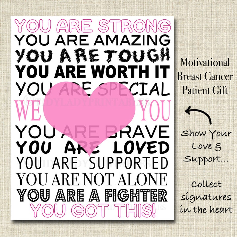 Inspirational Breast Cancer Patient Gift, Hospital Room Decor Motivational  Breast Cancer Art Breast Cancer Survivor Chemo Encouragement Gift