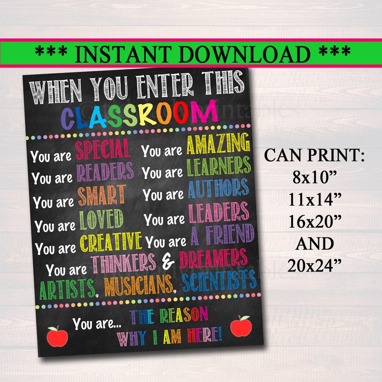 Druckbare Klassenzimmer Poster Klassenzimmer Dekor druckbare | Etsy