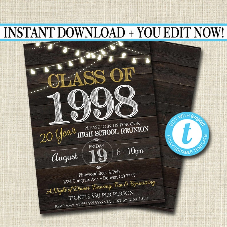 class reunion program template.html