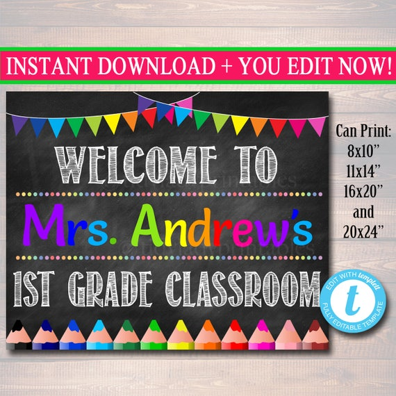 editable teacher classroom door sign classroom decor teacher etsy
