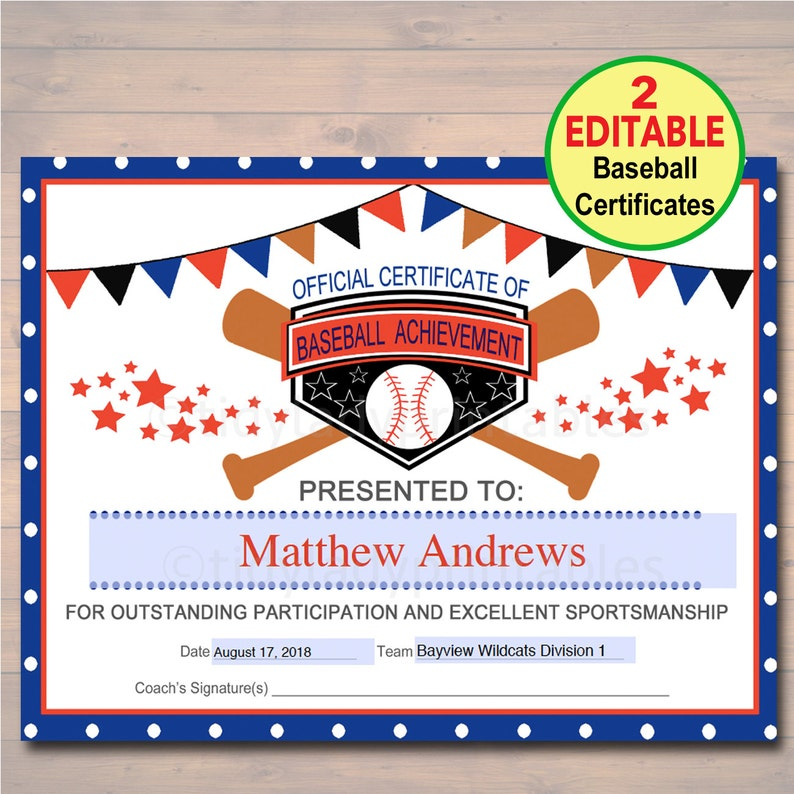 baseball certificates templates free.html