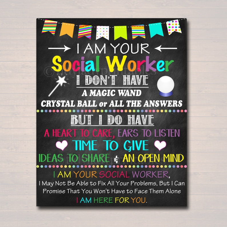 81be34eea6290 Social Worker Office Decor, I am Your School Social Worker Sign, School  Social Worker Office Gift, Printable Poster Art, INSTANT DOWNLOAD