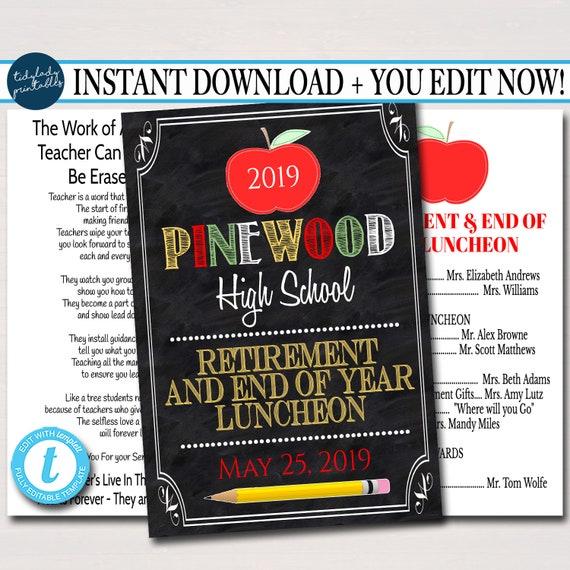 EDITABLE Retirement Ceremony Program Template Printable