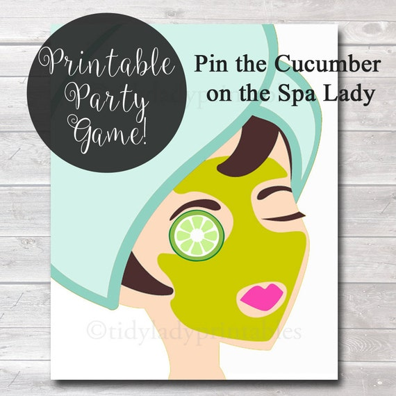 Spin The Bottle Nail Polish Game Gotr Girlsontherun: Pin The Cucumber On The Spa Lady Girls Party Game Spa