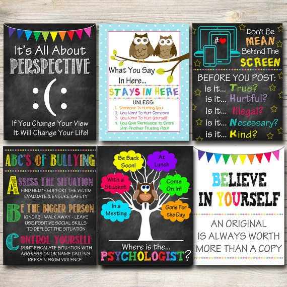 School Psychologist Posters Where Is The Psychologist Door Etsy