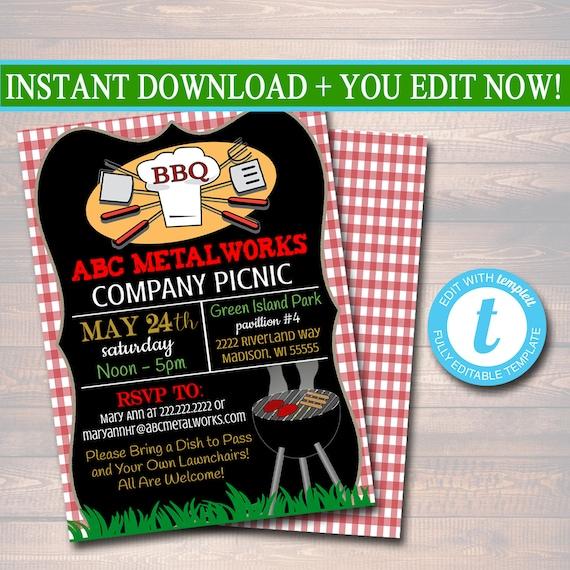 custom picnic invitation company picnic family picnic bbq etsy