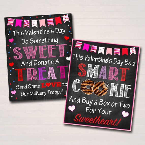 Valentine S Day Cookie Signs Printable Cookie Posters Set Etsy