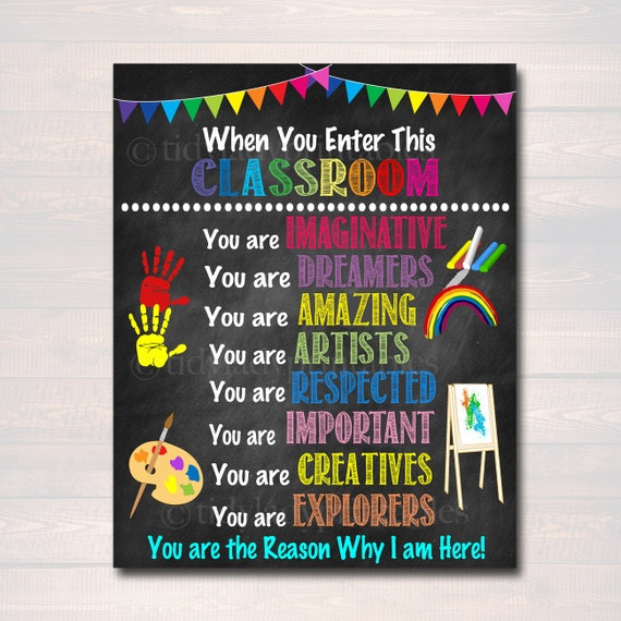 graphic relating to Kindergarten Classroom Rules Printable named Artwork Instructor Printable Poster, Clroom Decor, Kindergarten