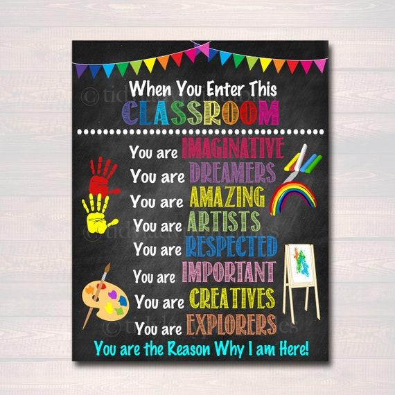 graphic regarding Kindergarten Classroom Rules Printable identified as Artwork Trainer Printable Poster, Clroom Decor, Kindergarten
