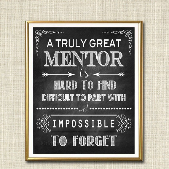 Mentor Gift A Truly Great Mentor Is Hard To Find Impossible Etsy