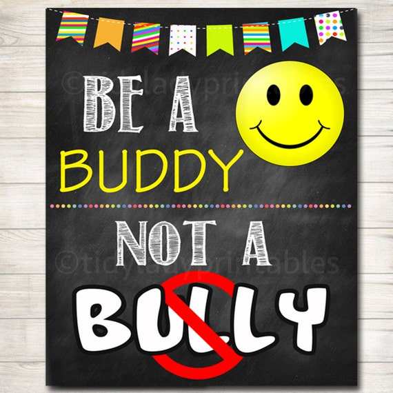 Anti Bully Poster Pack Classroom Decor Counselor Office | Etsy