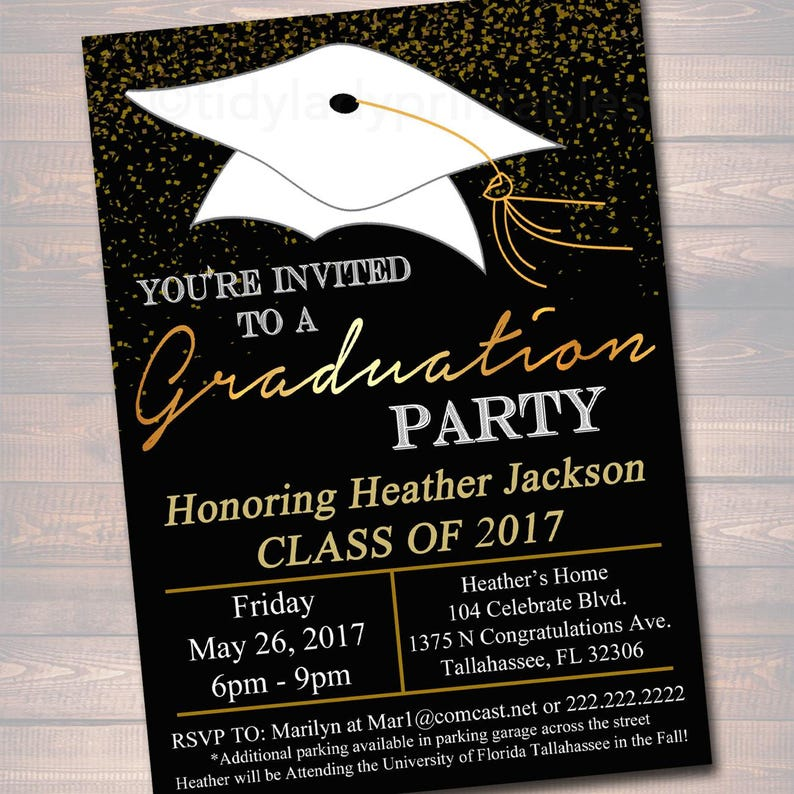 College Graduation Invitation EDITABLE Graduation Party Invitation High School Graduation Invitation Graduation Decor DIY Digital Invite