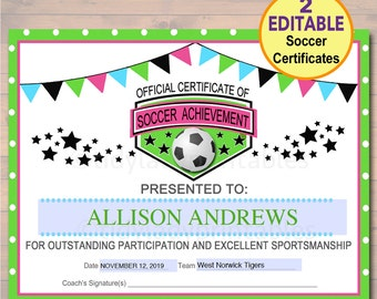 printable soccer certificate muco tadkanews co