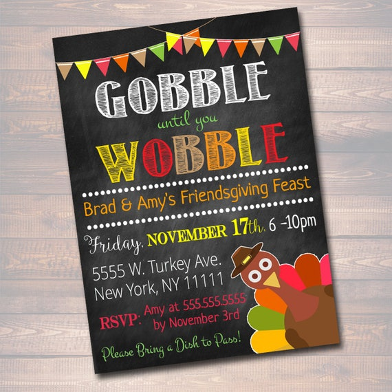 printable friendsgiving party invitation thanksgiving party etsy