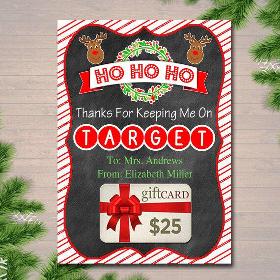 EDITABLE Christmas Target Gift Card Holder Printable