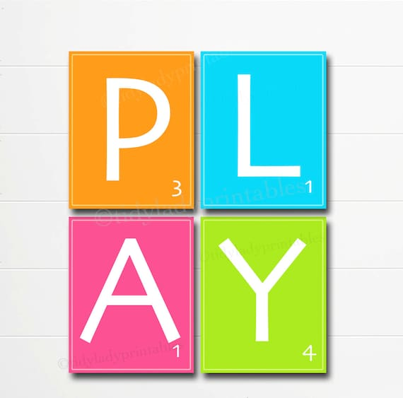 image regarding Scrabble Letters Printable known as Printable Scrabble Letter Wall Artwork, Playroom Wall Artwork