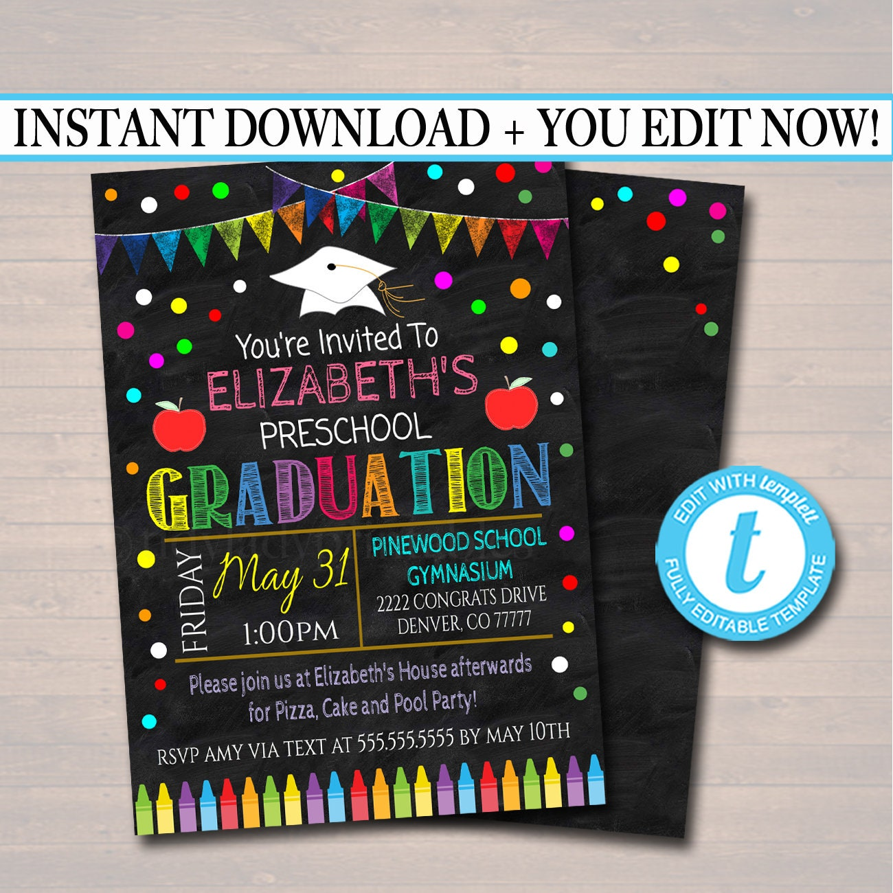 It's just a picture of Sassy Printable Graduation Invitations
