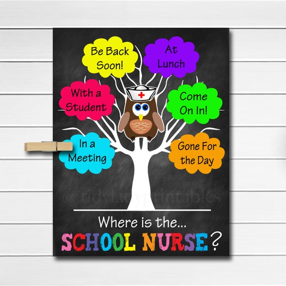 Where Is The School Nurse Door Sign Classroom Decor School Etsy