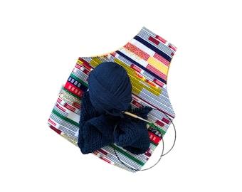 Knitting Yarn Storage Bag, Knitting Wristlet Yarn Tote Bag, Yarn Project Bag, Crochet Yarn Bag, Crochet Storage Bag, Crochet Yarn Bag holder