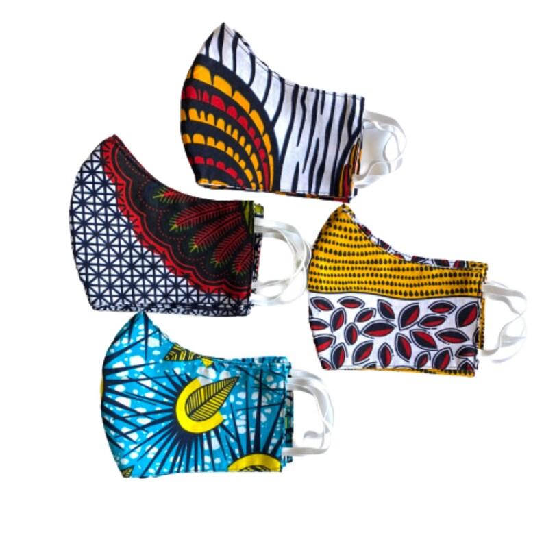 Reusable African face masks Afrocentric cloth face mask masks image 0
