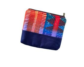 Navy Purse Organizer Pouch, Small Zipper Pouch for Purse, Small Makeup Bag, Small Zippered Pouches, Small Zipper Bag Storage