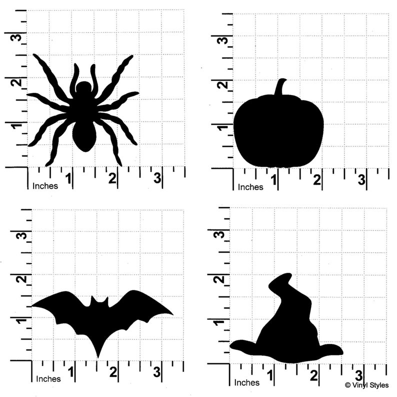 25 Vinyl Halloween Chalkboard Labels  14 Removable Decal Sticker-Wedding Party Mason Jars Glasses Witch Pumpkin Spider Bat 100 Black 50
