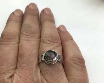 f83311586 Watermelon Tourmaline Sterling Silver Completely Hand Fabricated. Made to  Order Large Round Watermelon Tourmaline 10mm Susan Wachler ATL GA