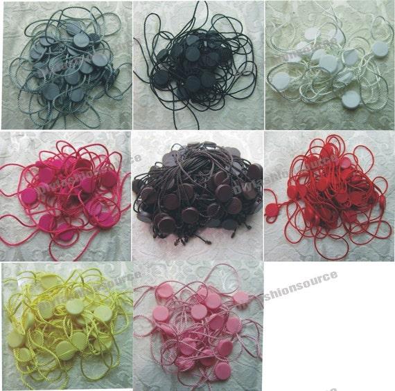 Hang Tag String 100pcs Hot Pink Hang Tag String with Plastic Fastener