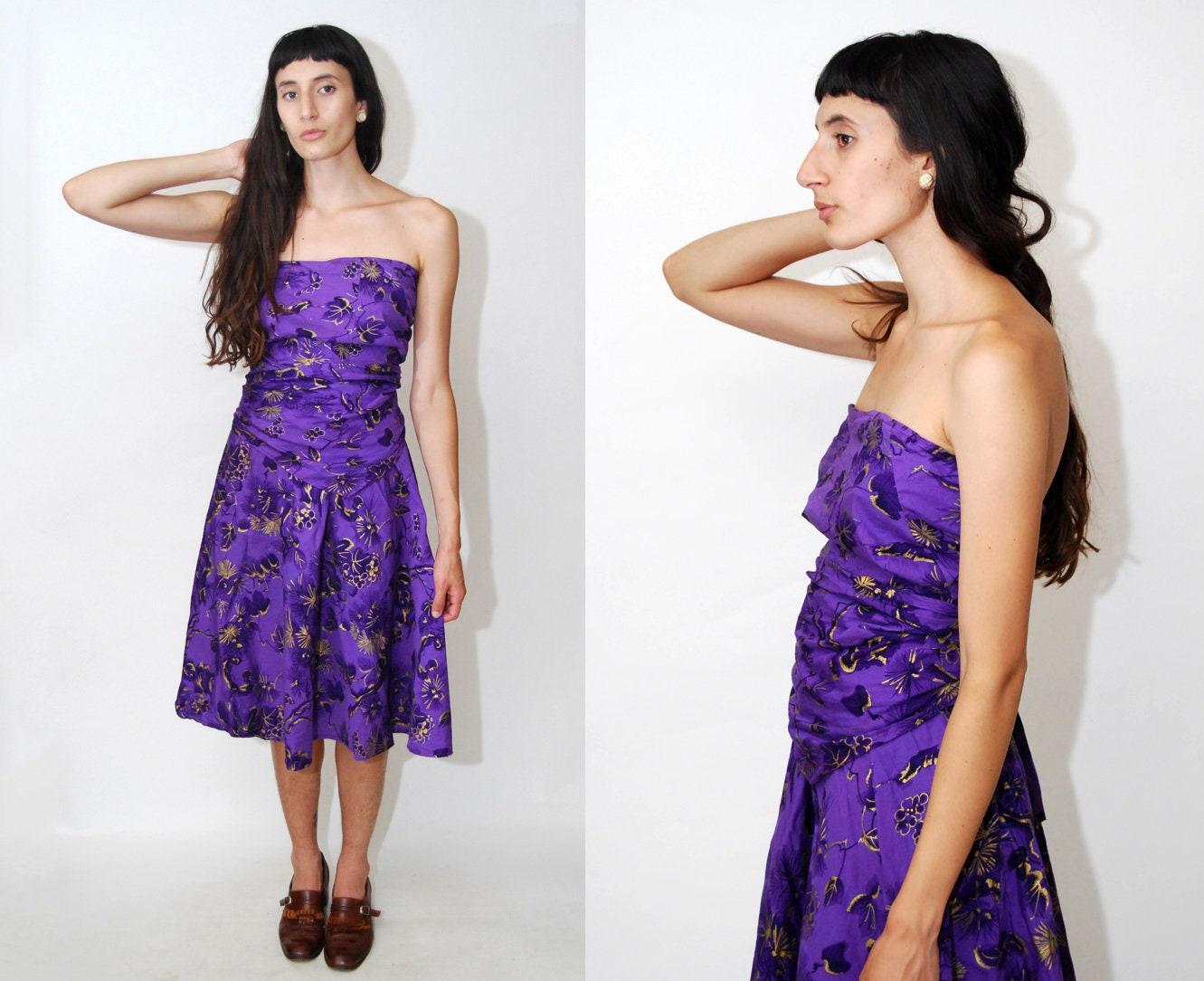 29fb9cf0fd2 Purple Floral Print Cutout Side Bodycon Dress - Gomes Weine AG