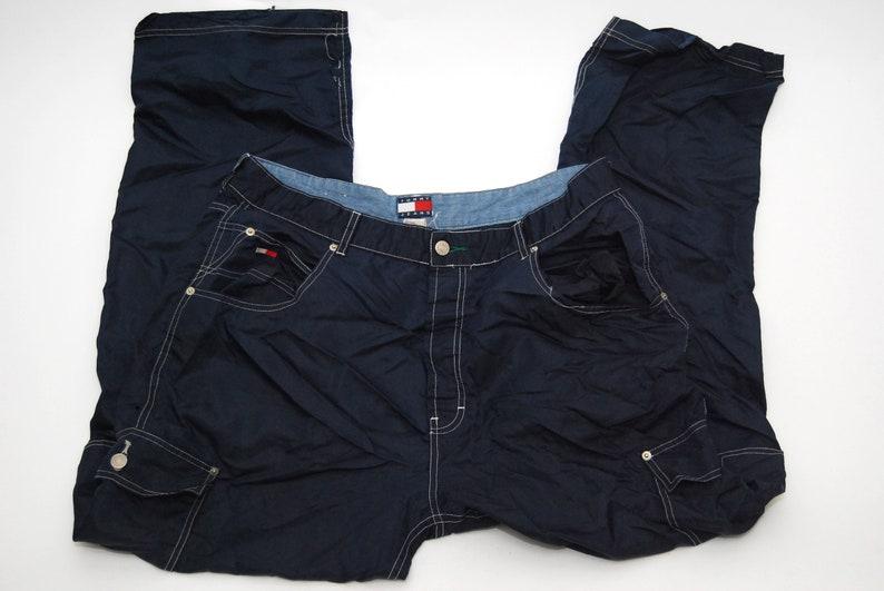 507c53bf8 TOMMY HILFIGER PANTS 38 vintage 90s navy blue cargo men | Etsy