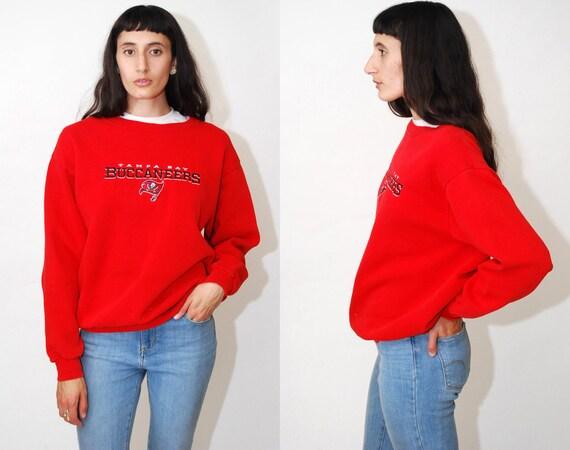 BUCCANEERS SWEATSHIRT (M) Vintage jaren 90 Tampa Bay trui shirt top jumper Crewneck middellange mannen vrouwen rode Buc NFL Football retro geborduurd