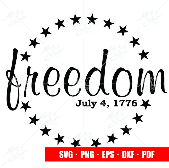 4th Of July Svg Freedom America Star Land Of The Free Etsy
