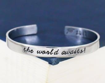 The World Awaits! Bracelet - Graduation Gift - Class of 2018