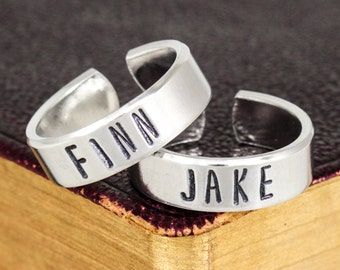 Finn and Jake Ring Set - Valentines Day Gift