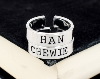Han and Chewie Ring Set - Valentines Day Gift