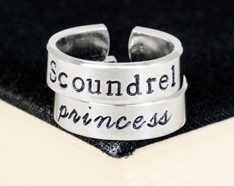 Scoundrel and Princess Ring Set - Valentines Day Gift