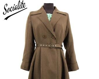 Brown Promenade Coat - Socialite Replica 1940s Coat