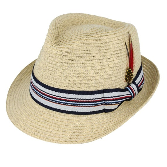 Summer Straw Trilby | Vintage Style Mens Light Wei