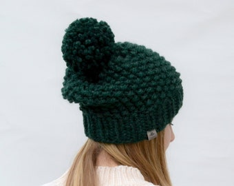 Womens Pompom Hat Knit Accessories Pom Beanie Birthday Gift Wool College Student Chunky Slouchy